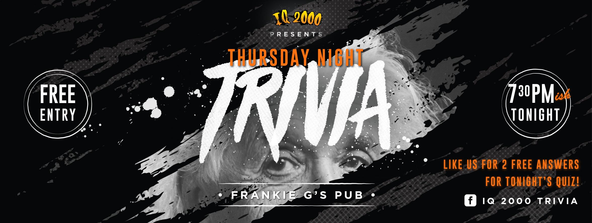 Frankie G's Trivia Wednesdays